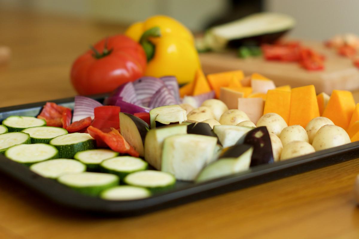 Tray of veggies