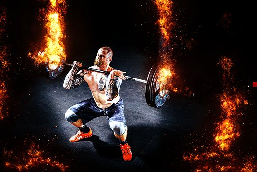 Dynamic image of weight lifting