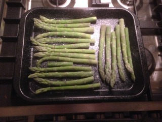Asparagus ready for baking. Love your vegetables