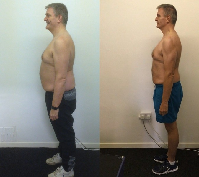 Clive - before and after side