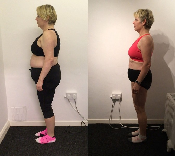 Nicola - before and after side