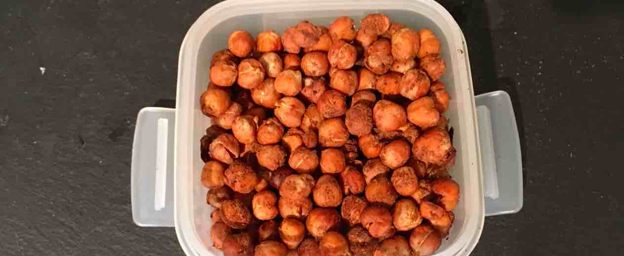 A picture of our spicy baked chickpeas