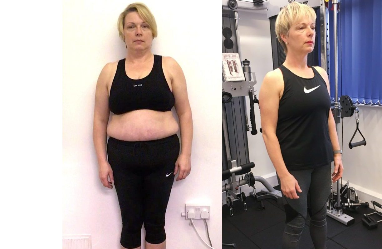female client transformation image
