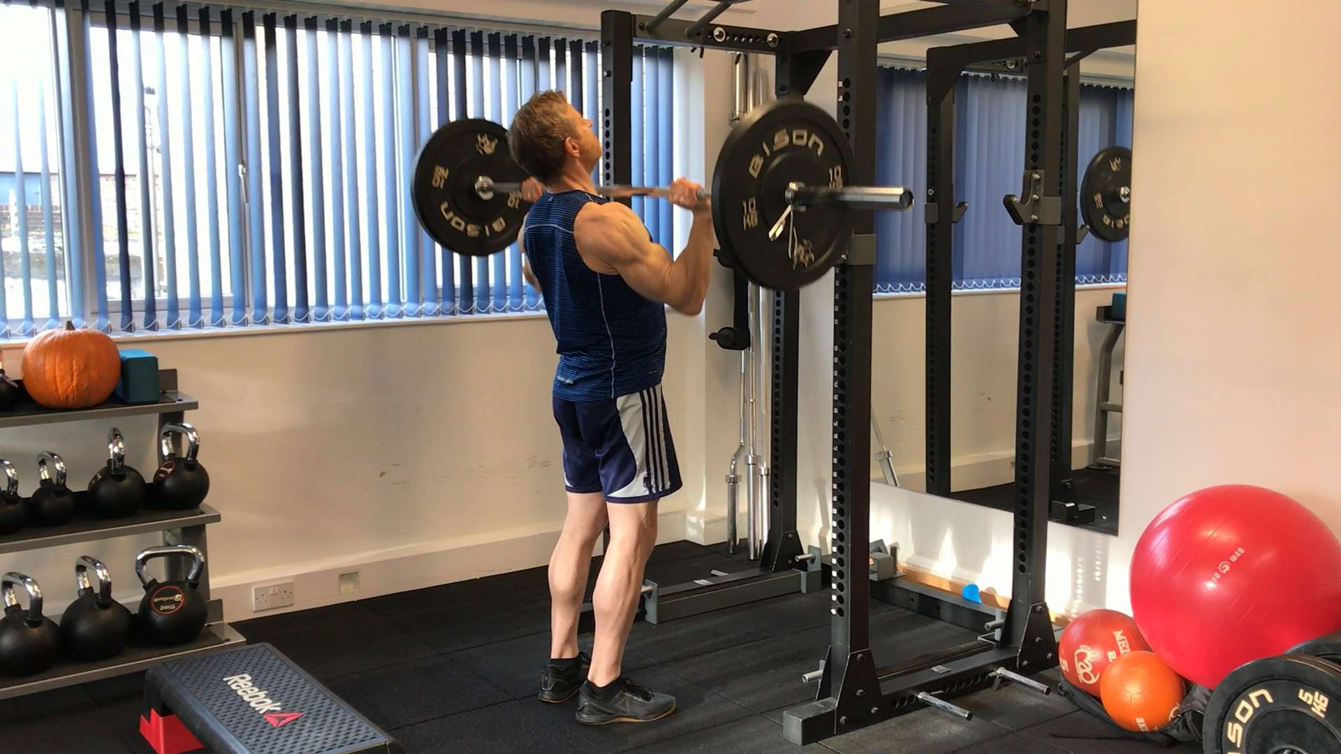 Barbell push press from a high intensity interval training session