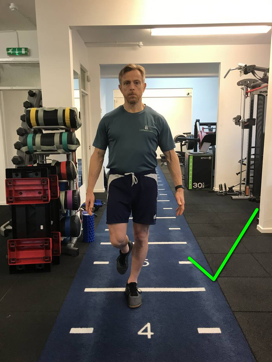 Level hips, part of Static Balance Progressions