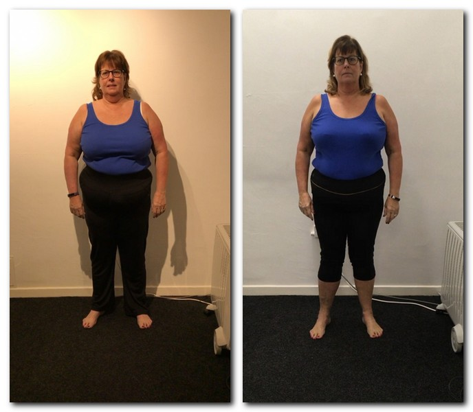 client before and after transformation from the front
