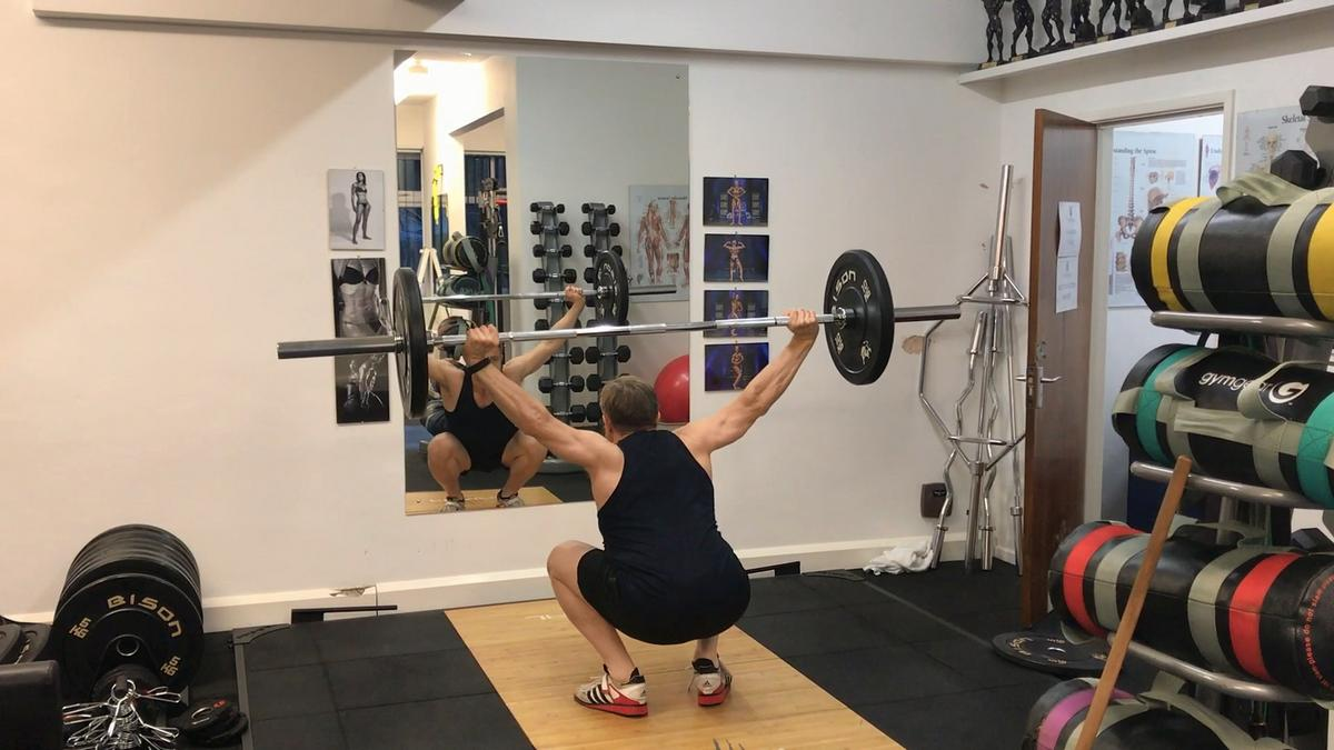 Bottom of the overhead squat.