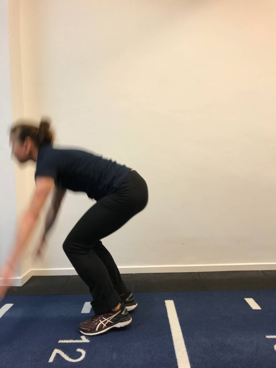 Burpees mid exercise