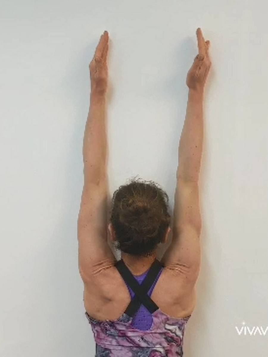 Wall reach exercise