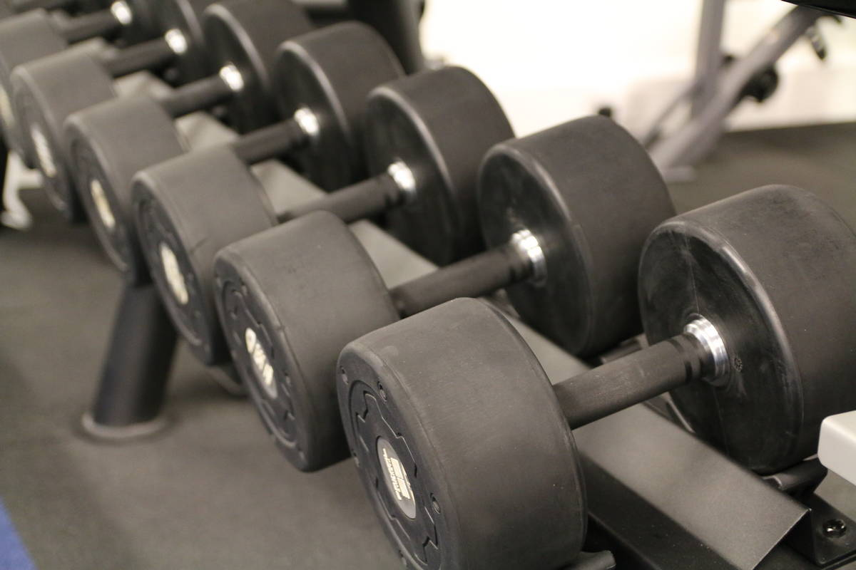 View looking down a rack of dumbbells. What fitness equipment should I buy for home?
