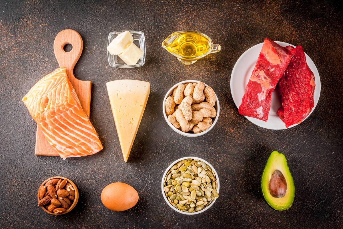 A selection of low carb foods. Eight reasons why you're not losing weight.