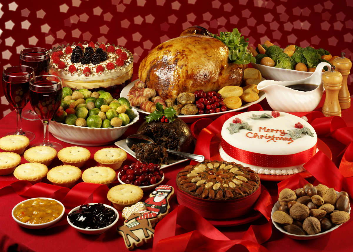 Selection of festive foods, how to avoid winter weight gain