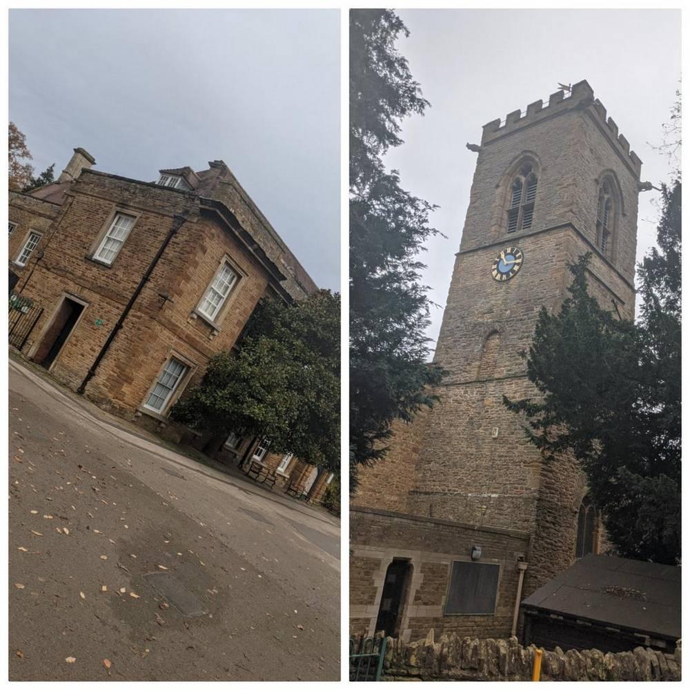 Dual image of landmarks in Abington park