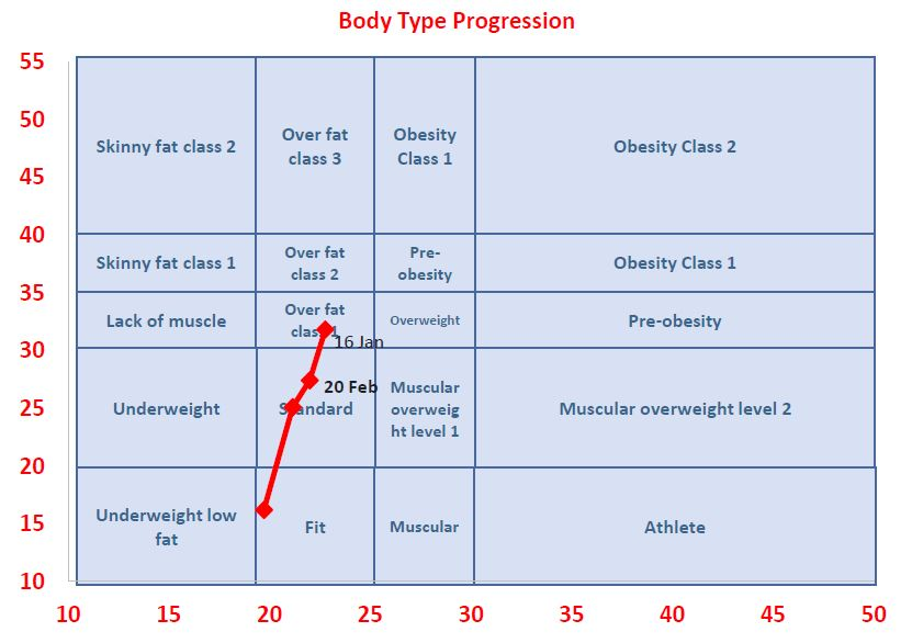Claire Ward body type chart