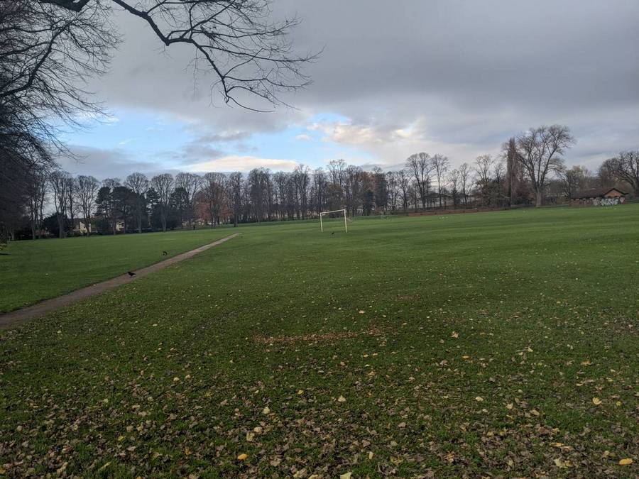 The playing field at Victoria Park, one of the Best parks for exercise in Northampton