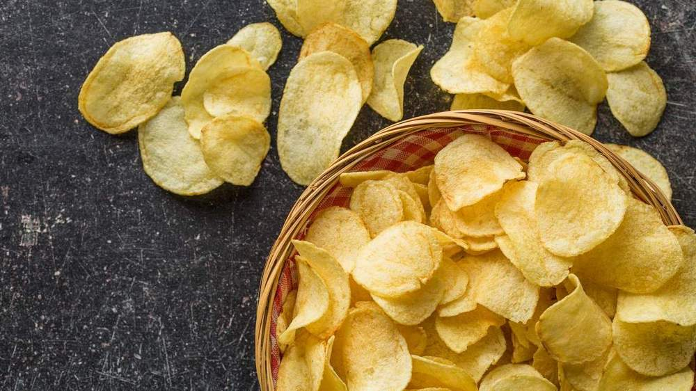 Crisps. Nibbles contain a lot of calories. If you have them regularly, that's adding up to a bad lifestyle