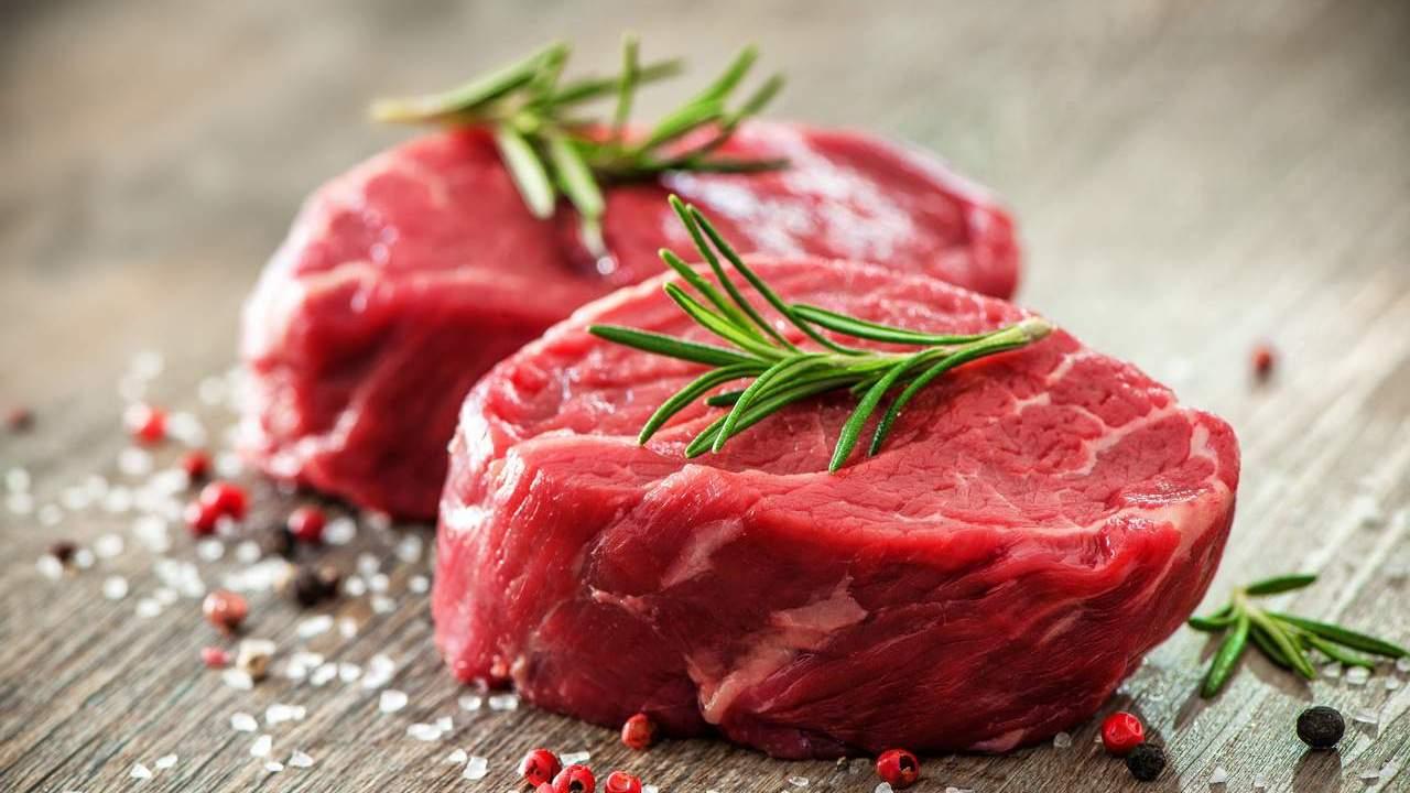Two raw fillet steaks.